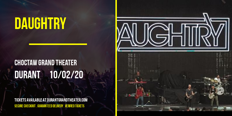 Daughtry at Choctaw Grand Theater