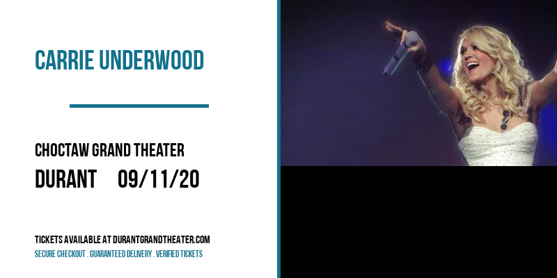 Carrie Underwood [CANCELLED] at Choctaw Grand Theater