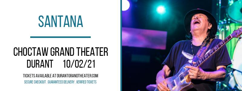 Santana at Choctaw Grand Theater